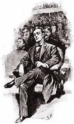 Cartoon Sherlock Holmes Plaque Of Meeting
